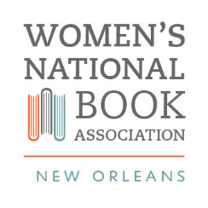 New Orleans appears underneath Women's National Book Association. There are three books shown from a top view also.