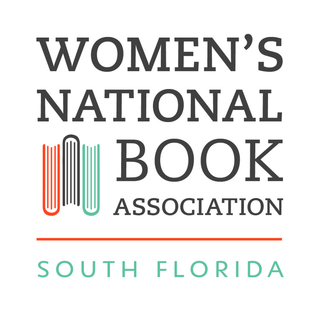 WNBA South Florida logo has a white background. It says Women's National Book Asscociation with an orange line underneath it and South Florida written under it.