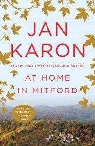 "Book cover for ""At Home in Milford"" by Jan Karon."