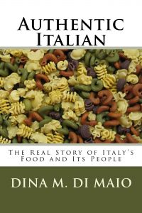 Cover of Authentic Italian shows a variety of pastas mixed together.