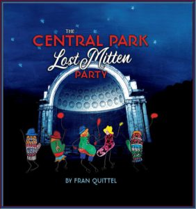 Cover of The Central Park Lost Mitten Party shows a variety of mittens on its cover.