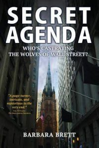 Cover of Secret Agenda shows a skyscraper between two other skyscrapers.