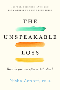 Cover of The Unspeakable Loss has the words underlined in different colors.