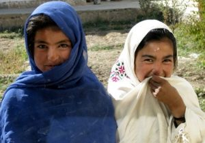 Photo of two young Afghani girls