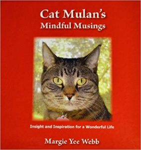 Cover of Cat Mulan's Mindful Musins shows a photo of a cat.