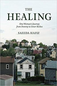 Cover of The Healing shows a crowded neighborhood of two-story homes.