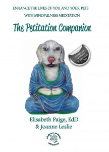 Cover shows a dog in a blue robe in a traditional meditation pose.