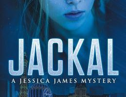 The Jackal book cover has a blue tint and features a girl's face over a city.