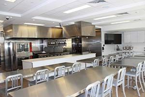 Photo of the kitchen at the Culinary Literacy Center at Free Library of Philadelphia