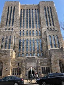 Photo of Sterling Memorial Library at Yale University.