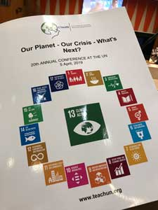 Photo of the program to CTAUN 2019 Our Planet Our Crisis What's Next.