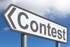 Stock Photo of a sign that says Contest