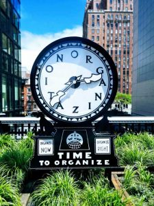 Clock that says Organization for the blog post Organize Your Nonfiction Book by Melissa Kirk for the WNBA