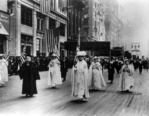 NYC 1917 suffrage parade