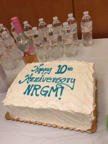 10th anniversary NRGM cake