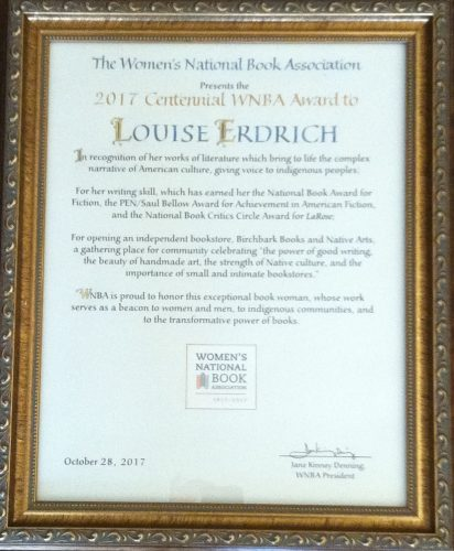 WNBA award Louise Erdich