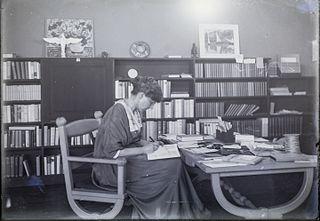 Madge Jenison in Sunwise Turn bookstore