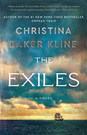 Book cover for The Exhiles by Christina Baker Kline, a 2020 Great Group Reads Selection
