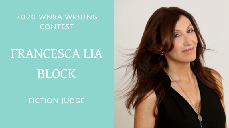Francesca Lia Block will be the fiction judge for the 2020 WNBA Writing Contest. Includes a photo.