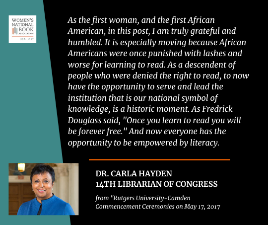 Quote from Dr. Carla Hayden about her role as the first African American Librarian of Congress.