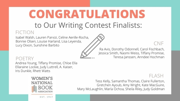 Lists the name of all of the finalists for the 2020 WNBA Writing Contest
