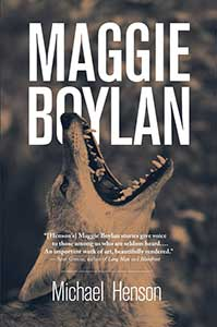 The book cover for Maggie Boylan shows a howling wolf.
