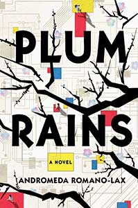 The book cover for Plum Rains shows a tree without leaves.