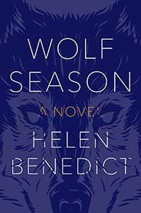 Wolf Season's book cover is purple with the outline of a wolf's face.