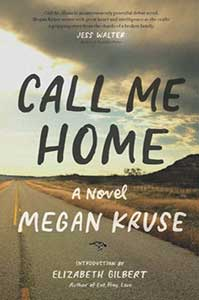 A dark storm cloud is moving over a read by a hill on the book cover for Call Me Home.