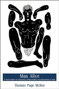 The Man Alive cover has a black and white illustration of a man with disembodied limbs.