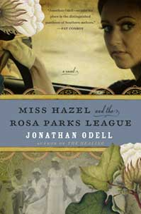 On the cover of Miss Hazel and the Rosa Parks League there is a white woman's face on the top and on the bottom, are four black women who are faded so their faces are distinct.