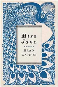 The book cover is covered with a stylized peacock in blue and white.
