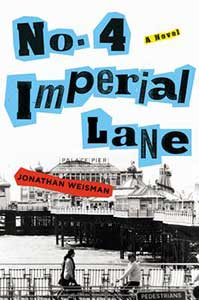No. 4 Imperial Lane's book cover shows a pier with buidlings on it and people walking.