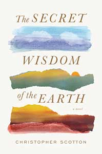 The cover for the Secret Wisdom of the Earth has three colorful sections. The top one has blue and purple with some white clouds. The middle section has green and yellow. The bottom section has a sunset feel with yellows, oranges, and reds.