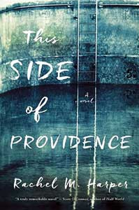 The book cover for This Side of Providence looks like distressed denim.