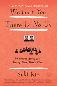 The cover for Without You, There Is No Us is coral with two pictures with the upper half of several people looking at the images like an audience.