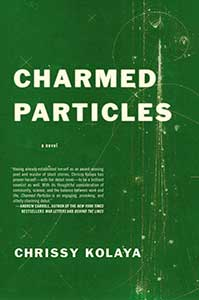 A dark green cover with faded dots and lines on its right side adorns the book Charmed Particles.