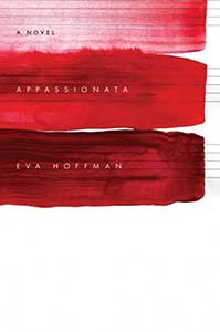 The book cover for Appassionata, a 2009 Great Group Reads, has three swipes of red across the width of the book. Each red is a different shade.