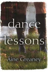 The book cover for Dance Lessons shows green grass and a person wearing a pair of dark tall boots. Bare legs up to mid-thigh are visible.