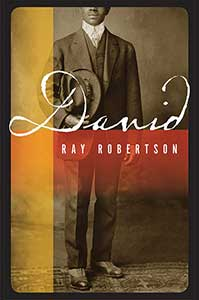 The book cover for David looks like a nineteenth century photograph of a Black man wearing a suit and holding his hat in his right hand. His face is only visible from the nose down.
