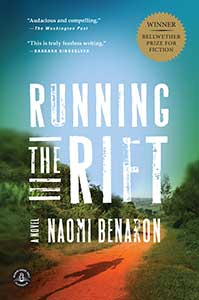 The book cover for Running the Rift shows lush, green foliage with a red dirt path under a blue sky.