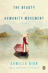 The book cover for The Beauty of Humanity Movement shows a girl wearing a long dress with a conical hat. She is punting on a body of water. Mountains are in the distance.