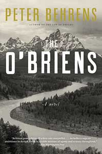 The book cover for the O'Briens shows a black and white picture of a winding road heading up toward mountains.