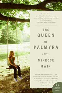 The book cover for the Queen of Palmyra shows a girl on a tree swing.
