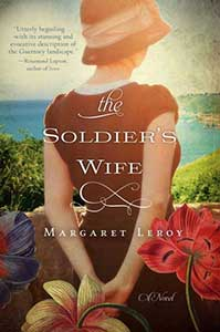 The book cover for the Soldier's Wife shows the back of a woman looking out over a body of water.