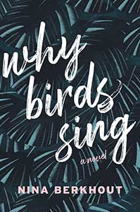 The book cover for Why Birds Sing is black with the illusion of blackish-gray feathers.