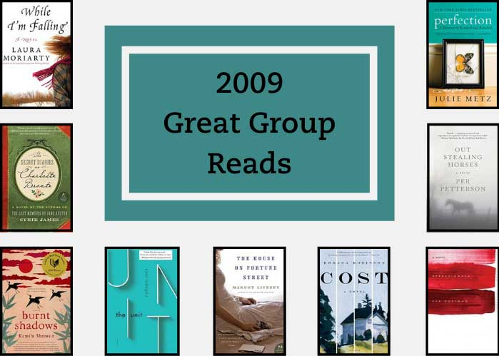 2009 Great Group Reads shows the 9 book covers from the inaugural list.