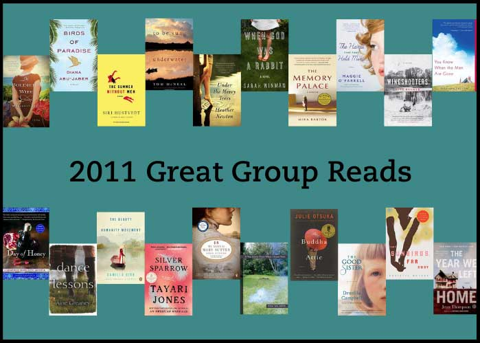 2011 Great Group Reads shows the book covers for all of the books on the list.