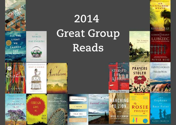 2014 Great Group Reads shows all of the book jackets for the books on the list.