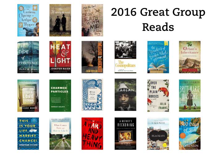 It says 2016 great group reads and then shows all of the book jackets for the list.